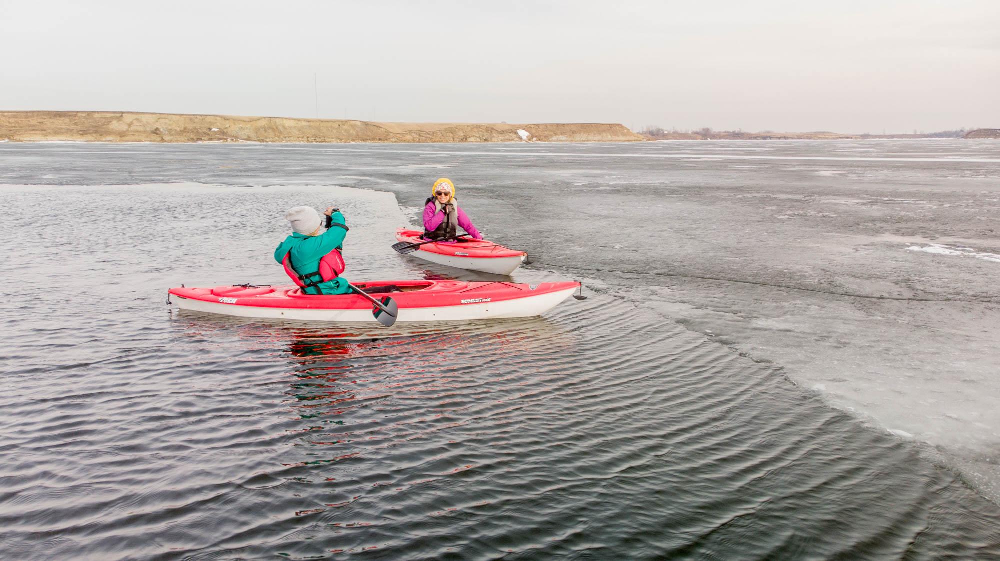 Winter Kayaking in Estevan